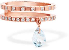 Diane Kordas 18-karat Rose Gold, Topaz And Diamond Ring