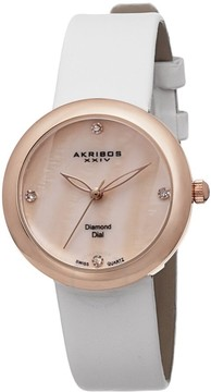 Akribos XXIV Mother-of-Pearl Ladies Watch