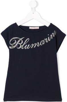 Miss Blumarine logo print T-shirt