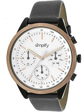 Simplify The 3800 Collection SIM3805 Unisex Watch with Leather Strap