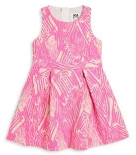 Milly Minis Toddler's, Little Girl's & Girl's Scribble Jacquard Racerback Dress