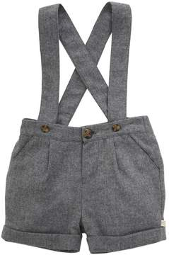 Marie Chantal Baby Boy Wool-Cashmere Suspender Shorts - Grey