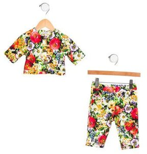 Dolce & Gabbana Girls' Floral Skinny Pant Set