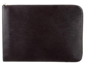 Louis Vuitton Epi Poche Documents Portfolio - BLACK - STYLE