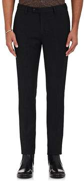 John Varvatos Men's Jersey-Trimmed Wool Slim-Fit Trousers