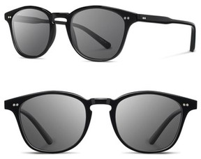 Shwood Men's Kennedy 50Mm Polarized Sunglasses - Black/ Grey Polarized