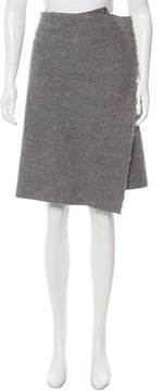 Celine Wool Asymmetrical Skirt