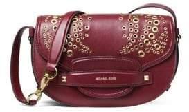 MICHAEL Michael Kors Cary Leather Saddle Bag