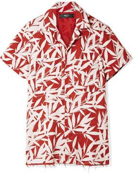 Amiri Printed Tencel Shirt - Red