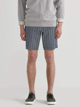 Frank and Oak The Newport Floral Print Twill Chino Short in Navy Blazer/White