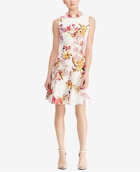 American Living Floral-Print Crepe Dress