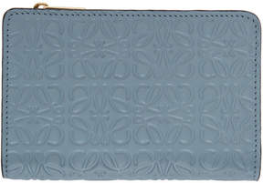 Loewe Blue Small Anagram Zip Wallet