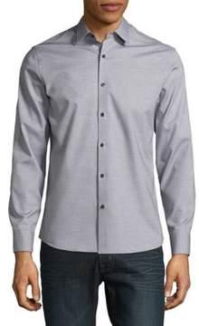 Black & Brown Black Brown Square Dobby Cotton Button-Down Shirt