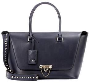 Valentino Demilune Double Handle leather shoulder bag