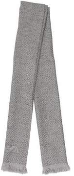 Emporio Armani Wool Fringe-Trimmed Scarf