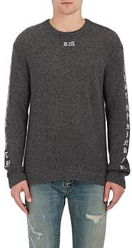 RtA Men's Gothic-Embroidered Cashmere Sweater