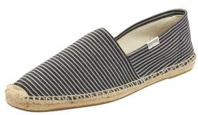 Soludos Mens Original Stripe Espadrilles In Blue White.