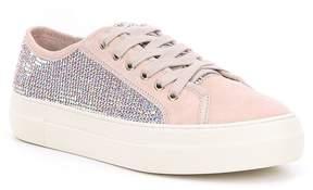 Gianni Bini Zennaa Suede Rhinestone Embellished Sneakers