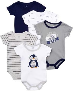 Hudson Baby Gray & White Penguin 'Chill Dude' Bodysuit Set - Infant