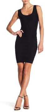 Bebe Textured Scoop Neck Bodycon Dress