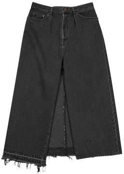 Miharayasuhiro Black Cropped Wide-leg Jeans