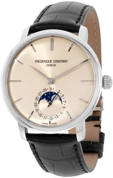Frederique Constant 705BG4S6 Slimline Stainless Steel Ivory Dial 42mm Mens Watch