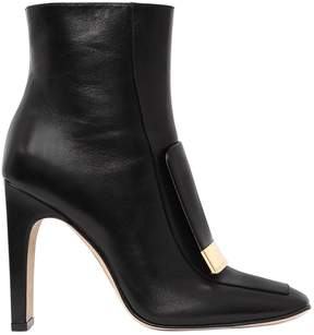 Sergio Rossi 105mm Metal Plaque Leather Boots