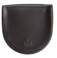 Gucci Black Leather Coin Purse. - BLACK - STYLE