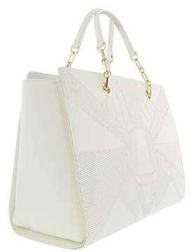 Roberto Cavalli Medium Handbag Elisabeth 002 White Satchel Bag.
