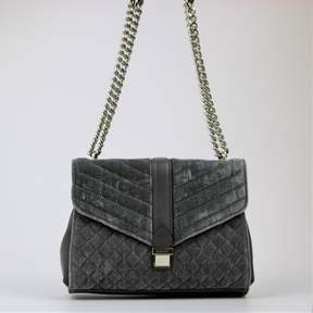 Nine West Arin Velvet Small Shoulder Bag Grey