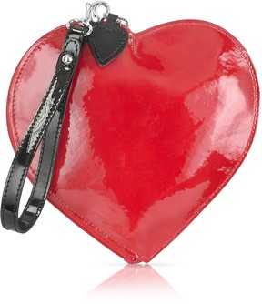 Fontanelli Patent Leather Heart Coin Purse