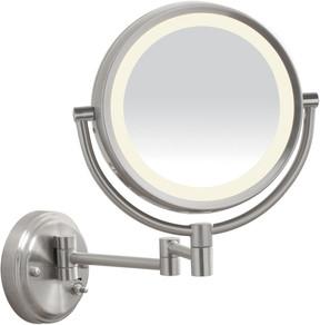 Conair LED Satin Nickel Wall-Mount Mirror