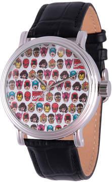 Marvel Comics Mens Black Strap Watch-Wma000046