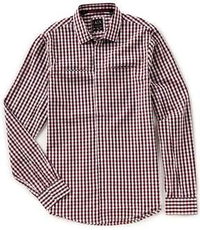 Armani Exchange Yarn Dyed Check Dobby Long-Sleeve Woven Shirt