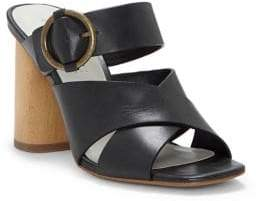 1 STATE 1.STATE Icendra Leather Wooden-Heel Sandals