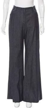 Behnaz Sarafpour High-Rise Wide-Leg Jeans w/ Tags