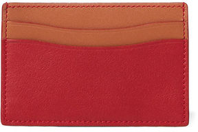 Ralph Lauren Color-Block Leather Card Case