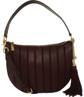 Michael Kors Women's Medium Brooklyn Applique Suede Leather Shoulder Bag Hobo - Plum - PLUM - STYLE