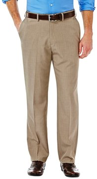 Haggar Men's eCLo Stria Straight-Fit Flat-Front Dress Pants