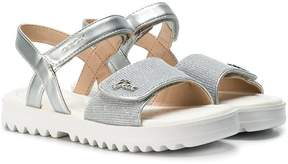 Geox metallic open-toe sandals