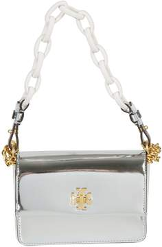 Tory Burch Chunky Chain Shoulder Bag - SILVER - STYLE