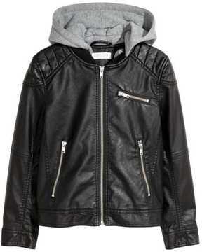 H&M Biker Jacket with Jersey Hood