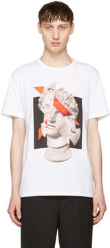 Neil Barrett White Geometric Sculpture T-Shirt