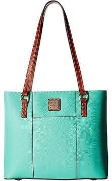 Dooney & Bourke Pebble Small Lexington Shopper Tote Handbags - JADE/TAN TRIM - STYLE