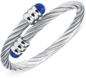 Charriol Womens Silver-Tone Lapis Lazuli Cable Bangle Bracelet