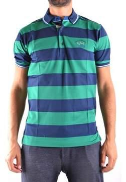 Paul & Shark Men's Blue/green Cotton Polo Shirt.