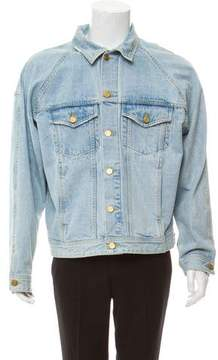 Fear Of God Raglan Distressed Denim Jacket