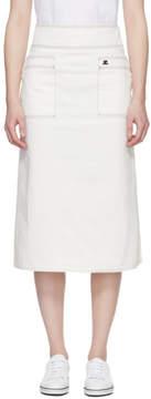 Courreges White Midi Denim Skirt