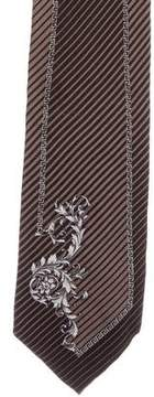 Gianni Versace Striped Silk Tie