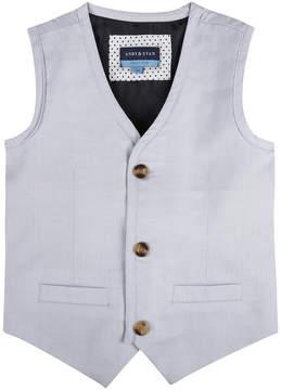 Andy & Evan Boys' Grey Oxford Vest & Pant 2Pc Set